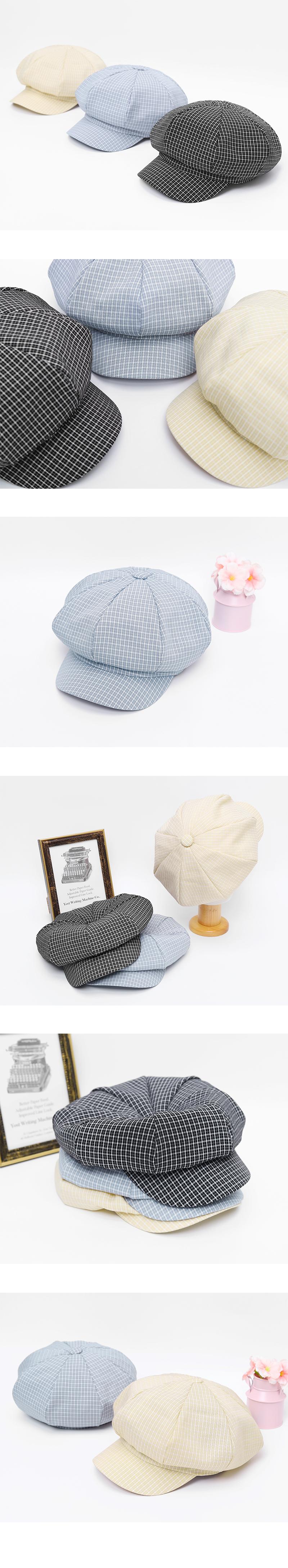 Plaid Bakerboy Hat-holiholic.com