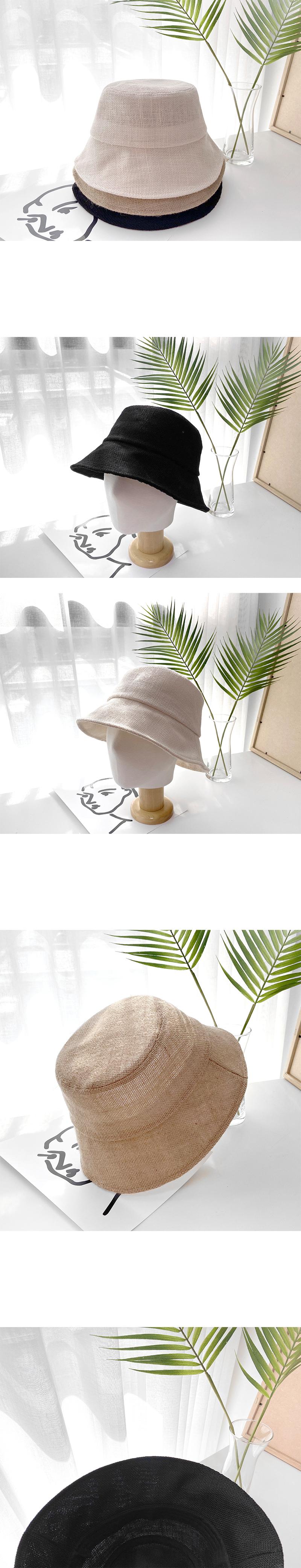 Simple Linen Bucket Hat-holiholic.com